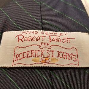 Robert Talbott Navy Blue Striped Silk Tie (A212)
